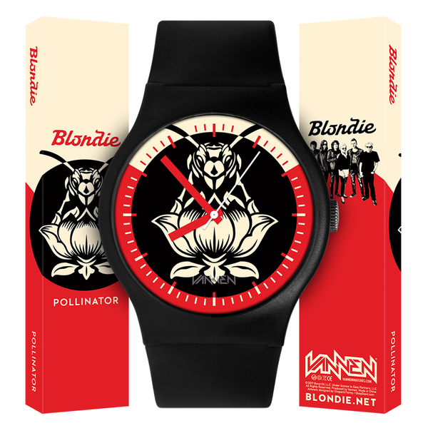 "Limited edition Blondie ""Pollinator"" black variant Vannen Watch now available for purchase at VannenWatches.com"