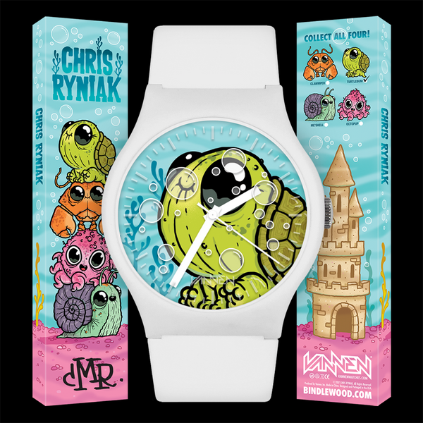 "Chris Ryniak's new, limited edition ""Turtlebum"" Vannen Artist Watch now available."