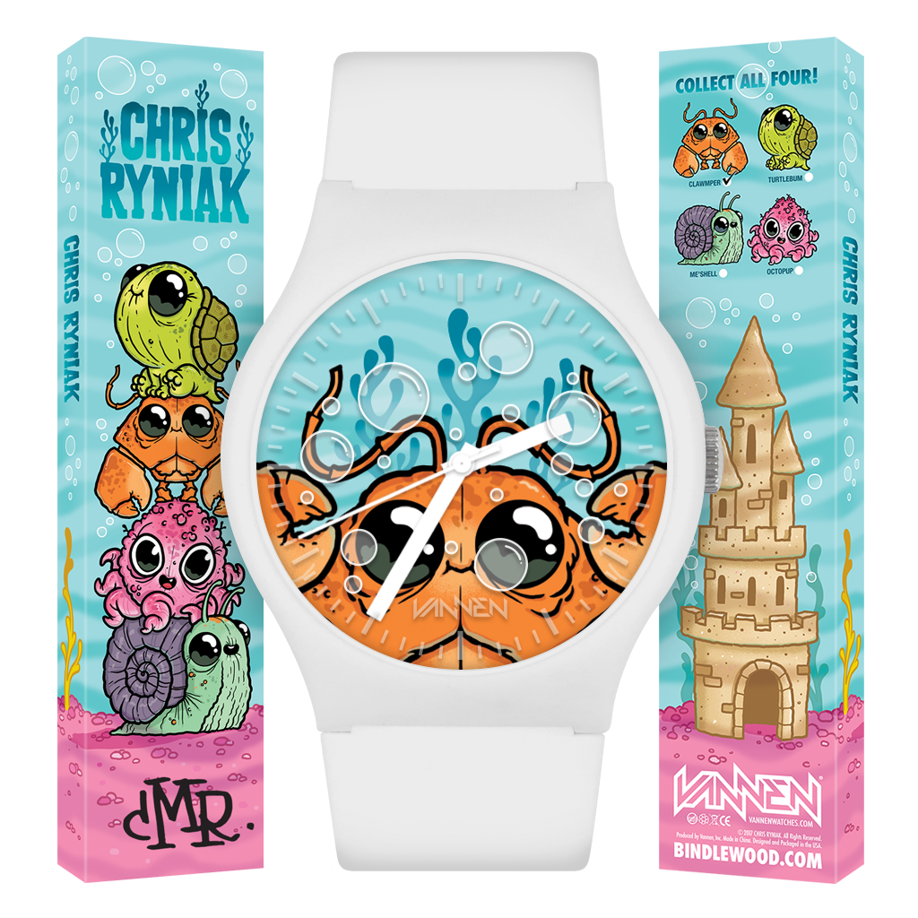 Chris Ryniak's new, limited edition 'Clawmper' Vannen Artist Watch now available for purchase at VannenWatches.com