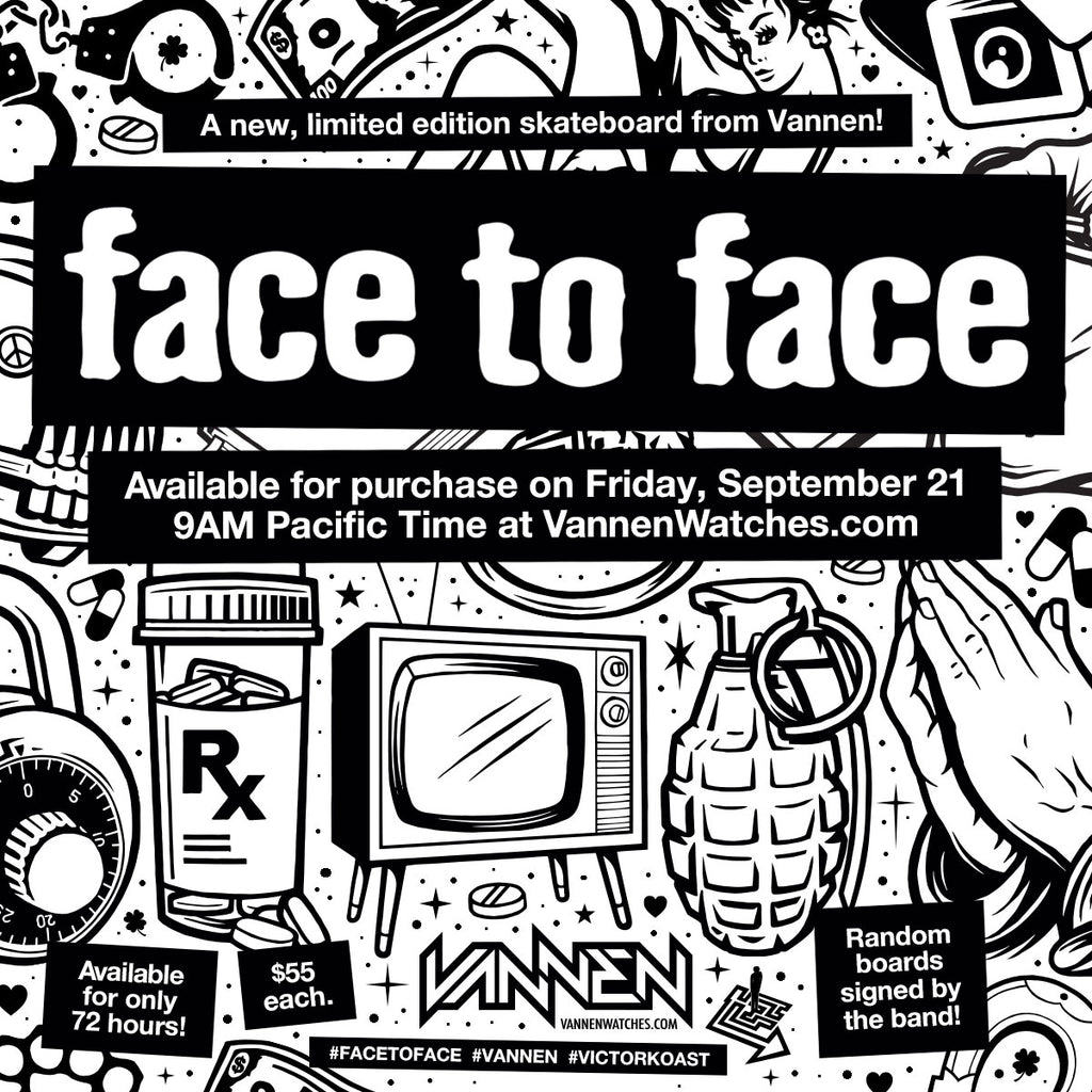 Vannen x Face to Face skateboard announcement