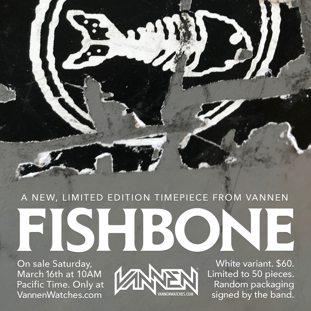 Fishbone x Vannen Artist Watches White Variant Announcement