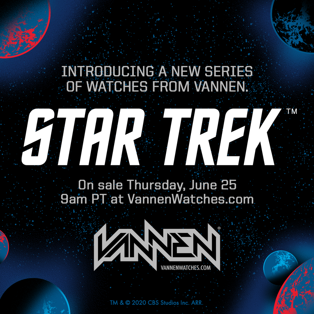 Announcement: limited edition Star Trek watches from Vannen