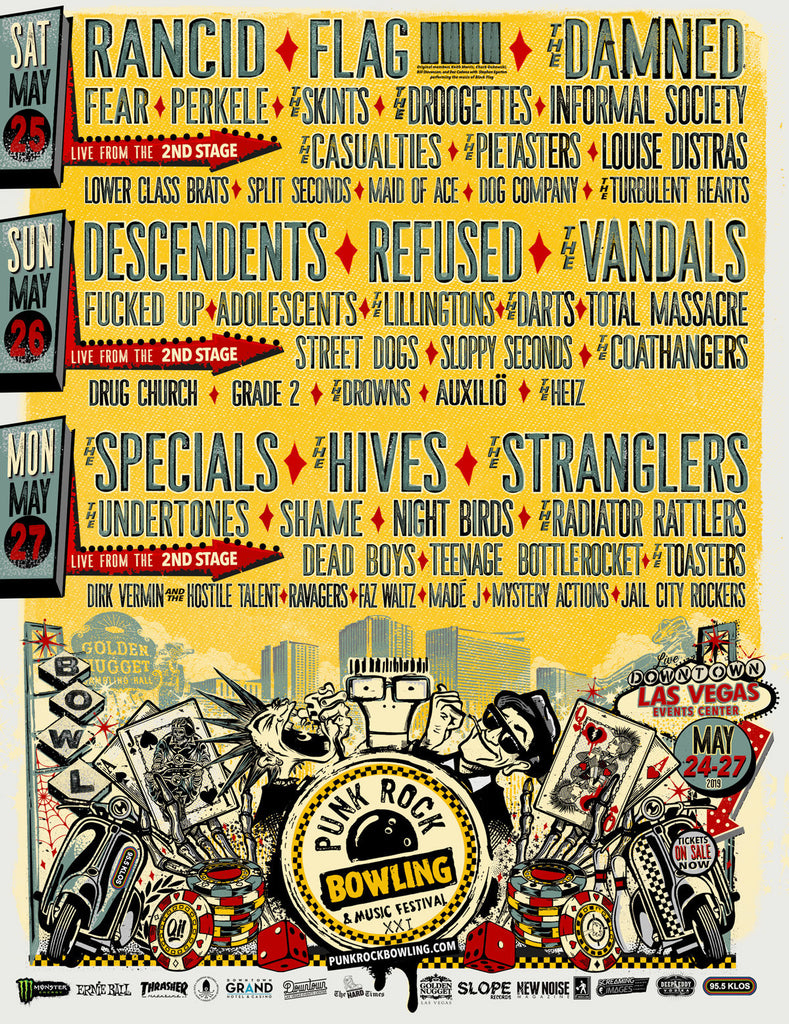 Punk Rock Bowling 2019 Daily Lineup