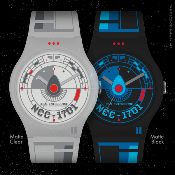 On Sale Now: Black and Matte Clear Star Trek artist watches by Tom Whalen