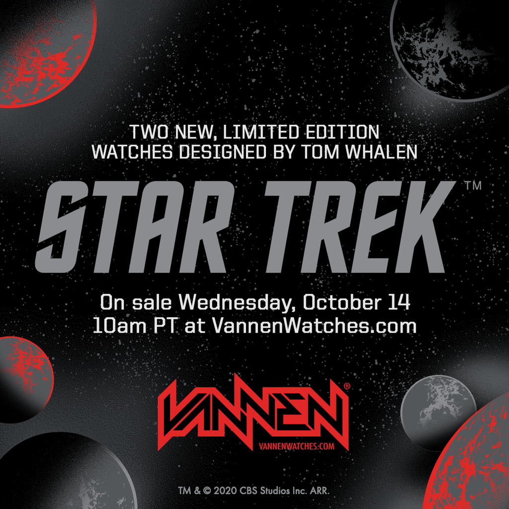Star Trek x Tom Whalen Vannen artist watches announcement
