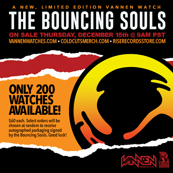 Limited Edition Bouncing Souls Vannen Artist Watch Available December 15th