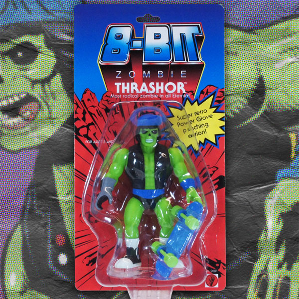 Thrashor action figure by 8-bit ZOMBIE