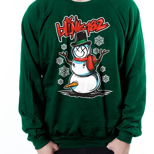 Blink 182 Naughty Snowman Christmas Sweatshirt