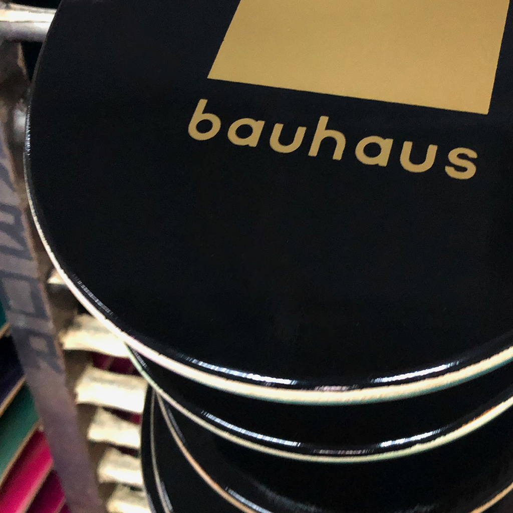 A peek at the Bauhaus Gold Skateboard deck