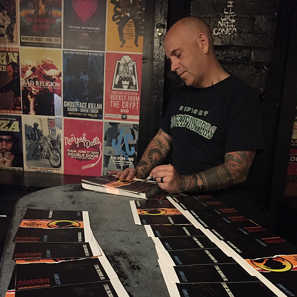 Bryan Signing Bouncing Souls Watch Packaging