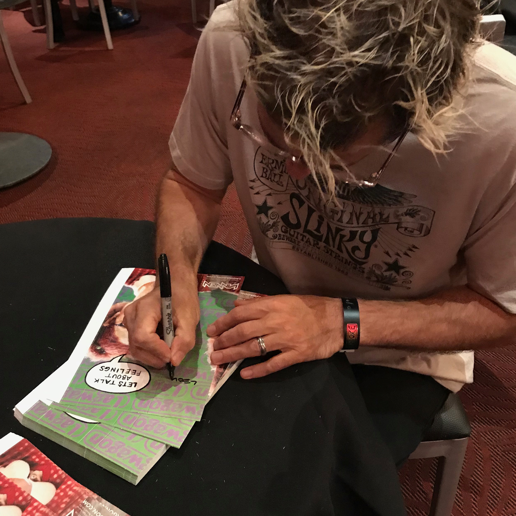 "Chris Rest signing Lagwagon ""Let's Talk About Feelings"" Vannen Watch Packaging"