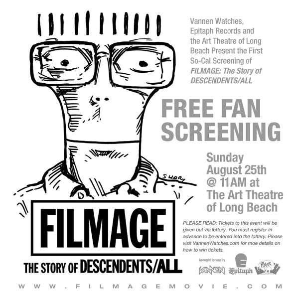 Los Angeles Screening of Filmage: The Story of Descendents / ALL