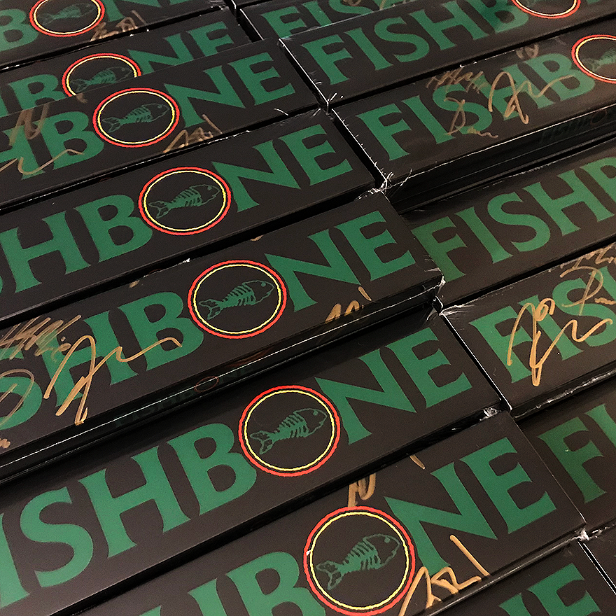 Fishbone autographed watch packaging