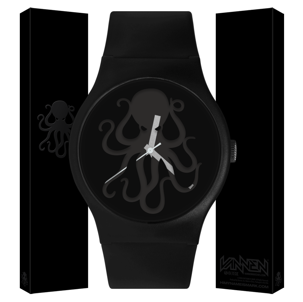 Limited edition Hi My Name is Mark x Vannen black 'Knockout' Watch