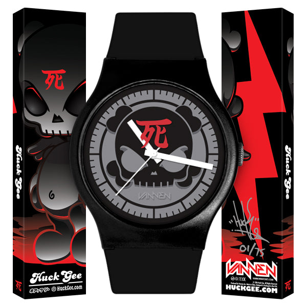 "Limited Edition Huck Gee ""Blank"" Black Vannen Artist Watch"