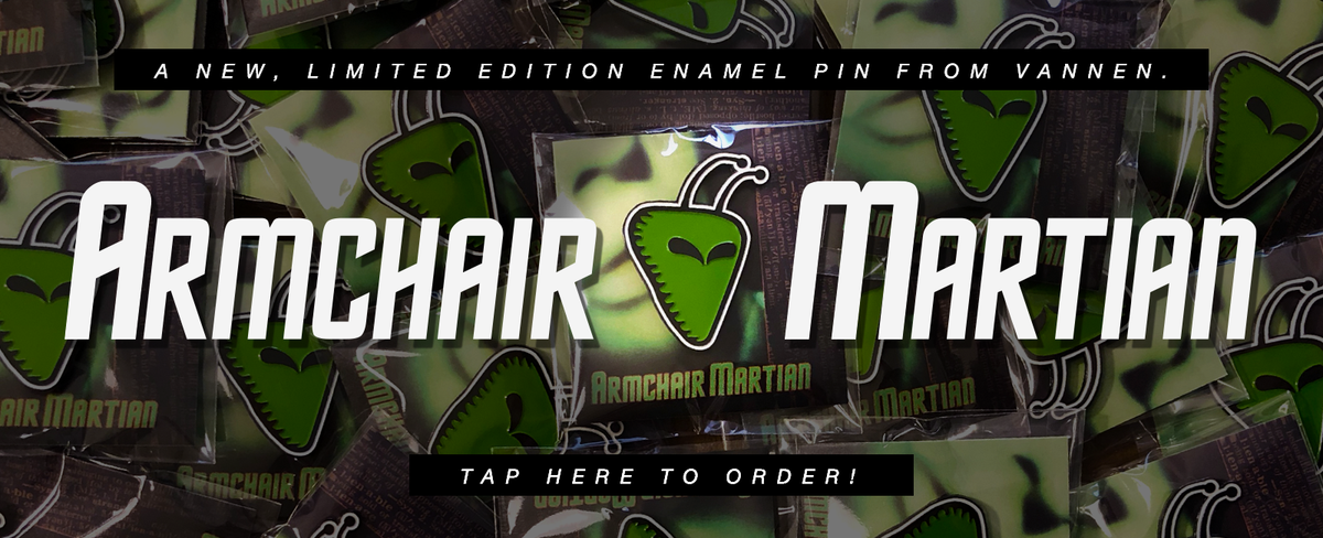 Limited Edition Armchair Martian Enamel Pin