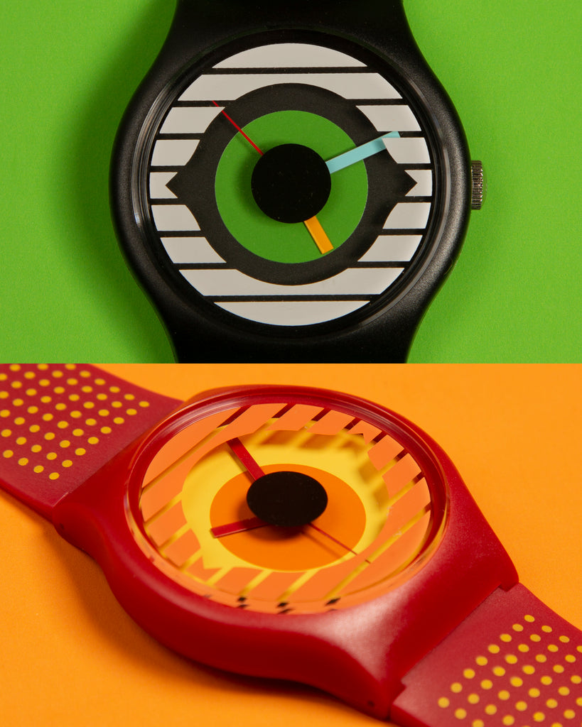Invisible Creature x Vannen black and red watches