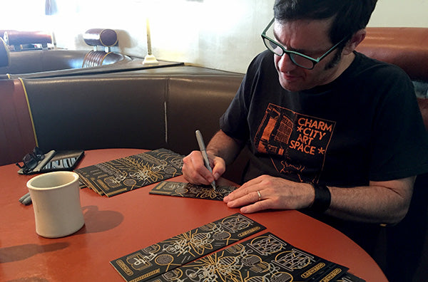 Joey Cape signing Lagwagon Vannen Artist Watch Packaing