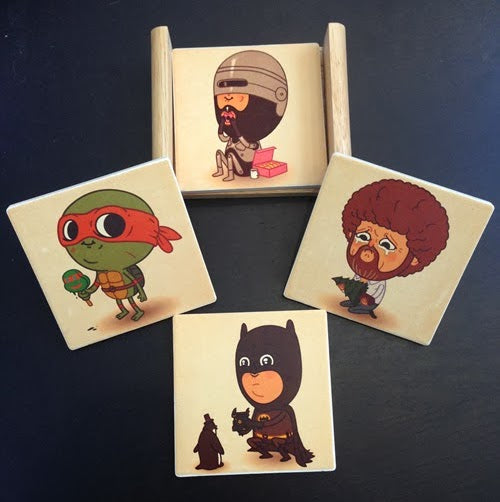 "Mike Mitchell ""Just Like Us"" Coaster Set"