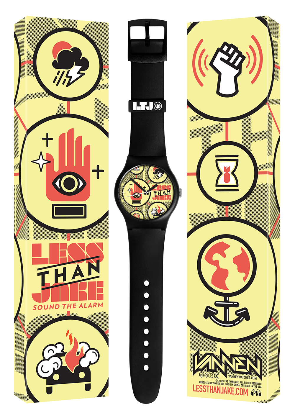 "Less Than Jake Limited Edition ""Sound The Alarm"" Vannen Artist Watch"