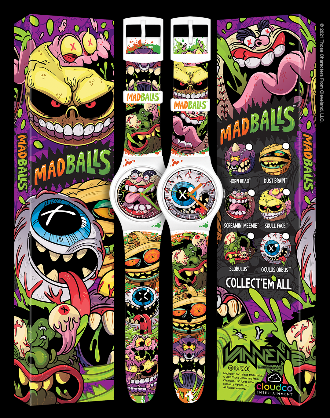 Limited edition Madballs watches from Vannen