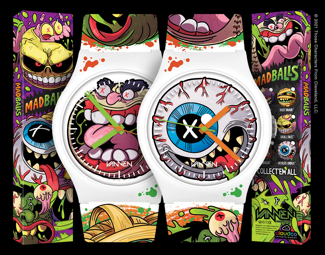 Limited edition Oculus Orbus and Screamin Meemie Madballs watches from Vannen