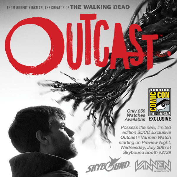 Limited Edition San Diego Comic-Con Exclusive Outcast Vannen Artist Watch