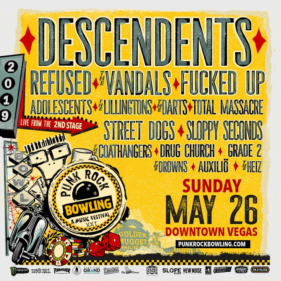 Punk Rock Bowling 2019 Sunday Lineup