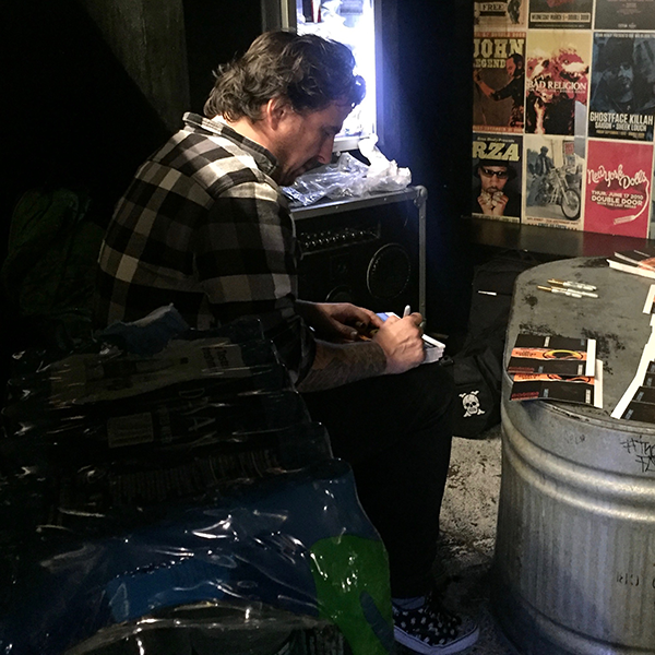 Pete Signing Bouncing Souls Watch Packaging