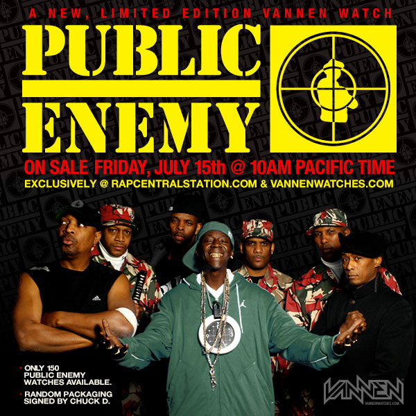 Public Enemy Vannen Watch Annoucement