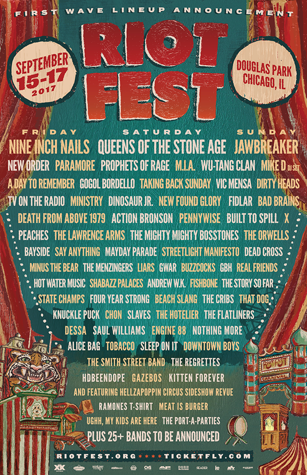 Riot Fest 2017 Chicago Line-up