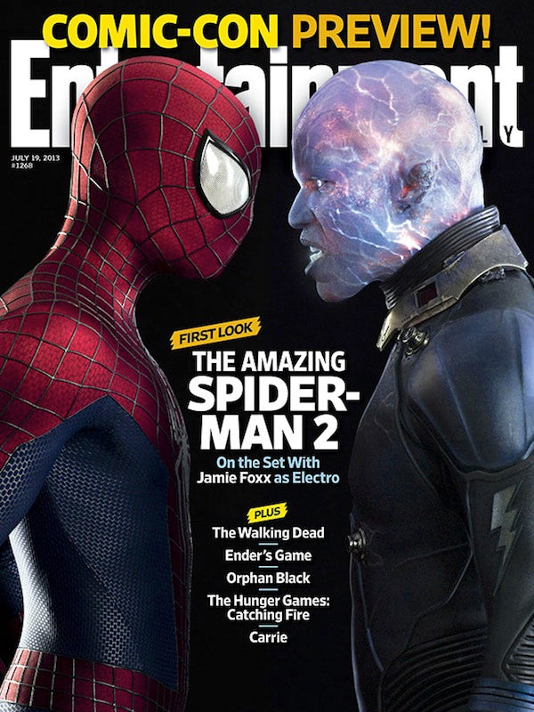 Electro Spider-Man Entertainment Weekly Cover