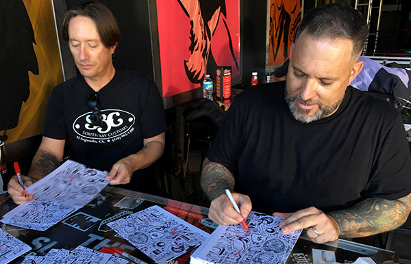 Scott and Trever Signing Limited Edition Face to Face Vannen Artist Watch Packaging