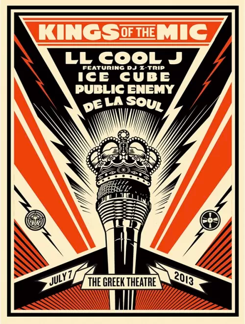 Obey Giant Kings Of The Mic Poster