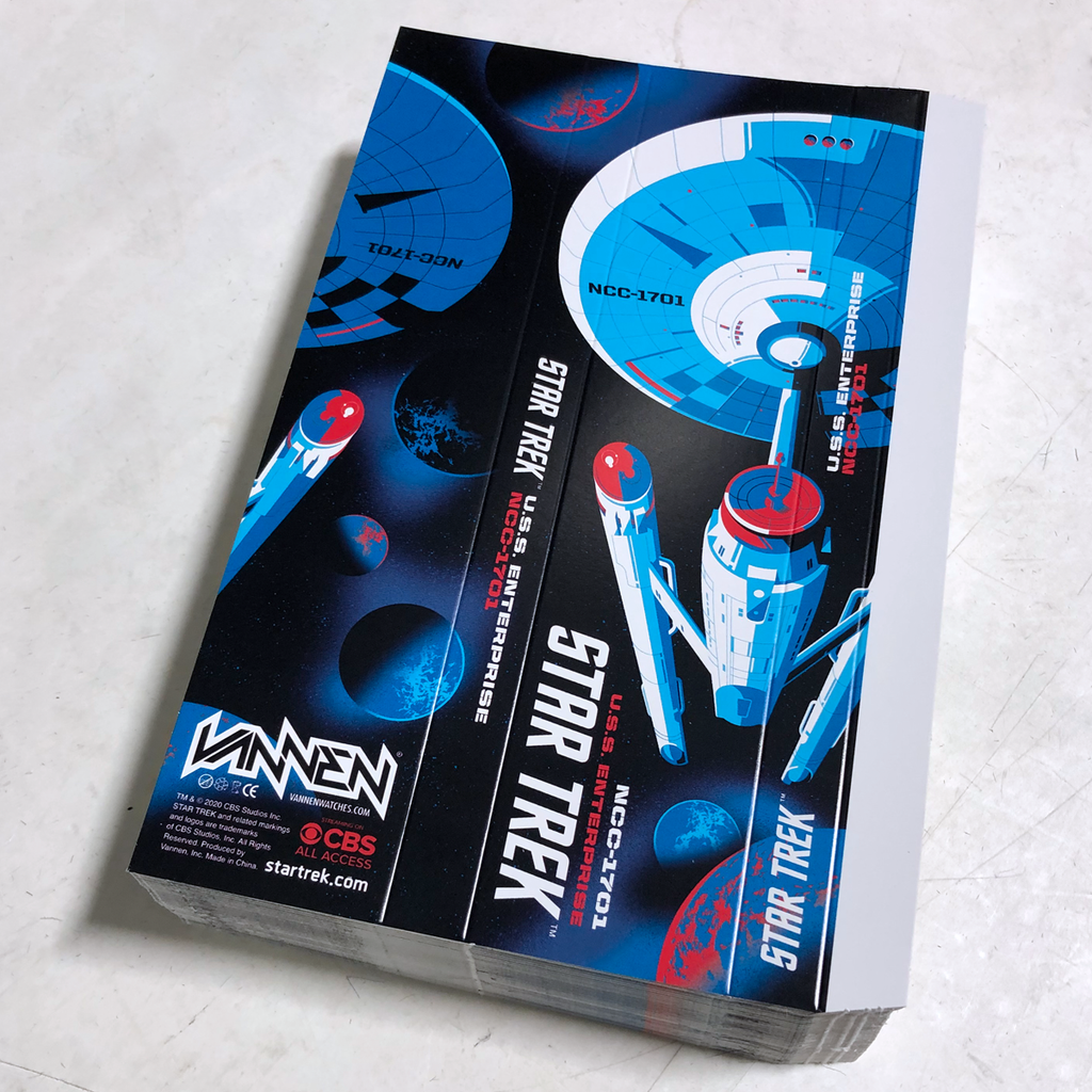 Star Trek x Tom Whalen Vannen artist watch black variant packaging sleeve