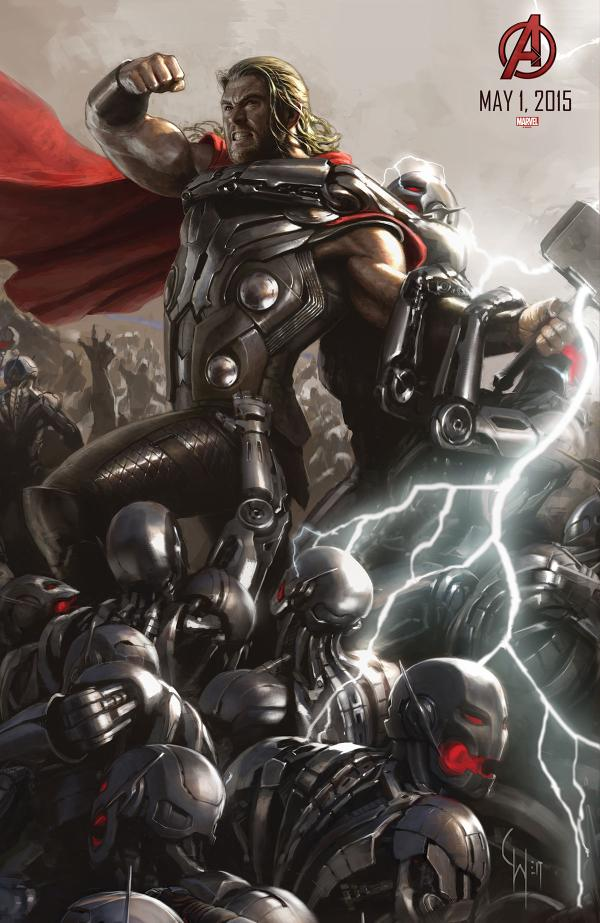 Avengers: Age of Ultron Thor Concept Art Poster