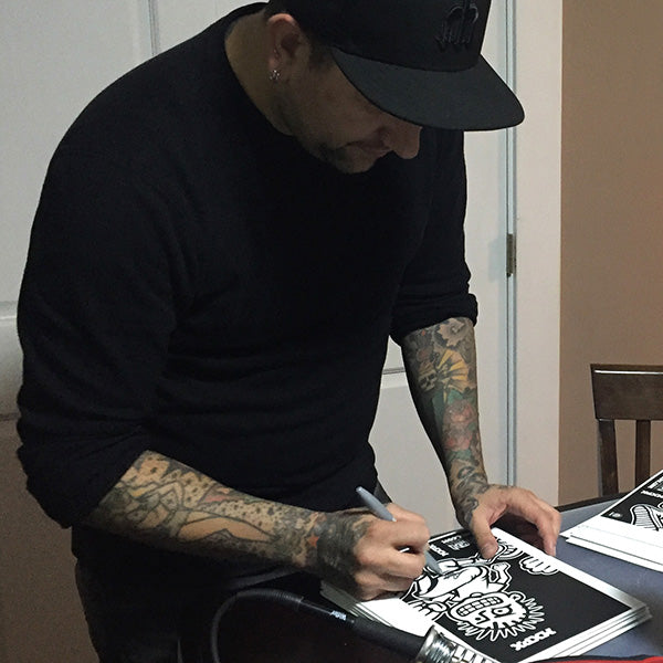 Tom Wisniewski signing MXPX Vannen Artist Watch Packaging