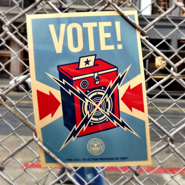 Sincerely Inc. x Shepard Fairey: Free VOTE! Cards