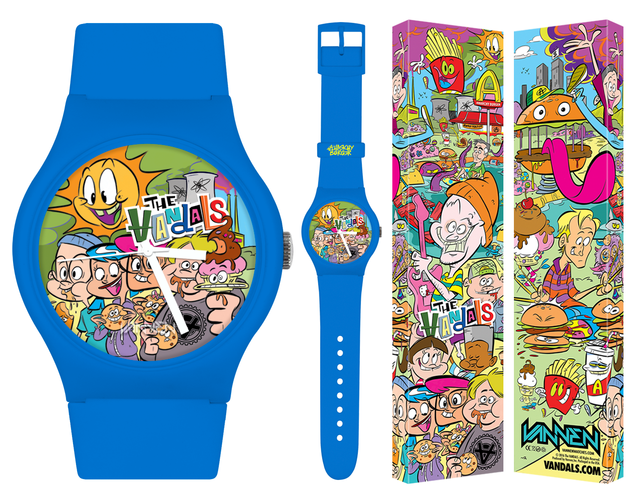 "The Vandals Limited Edition blue ""Anarchy Burger"" Vannen Watch"