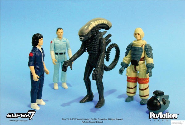 Super7 Alien ReAction Figures & Pint Glasses