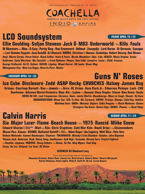 Coachella 2016 Line up