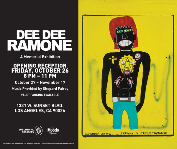 DEE DEE RAMONE X SUBLIMINAL PROJECTS ArT SHOW