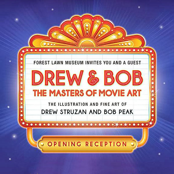 Forest Lawn Museum presents Drew and Bob The Masters of Movie Art exhibit