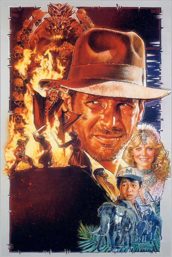 Indiana Jones and the Temple of Doom movie poster by Drew Struzan
