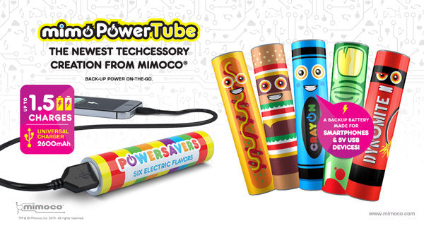 Mimoco MimoPowerTube Artist Series Phone Chargers