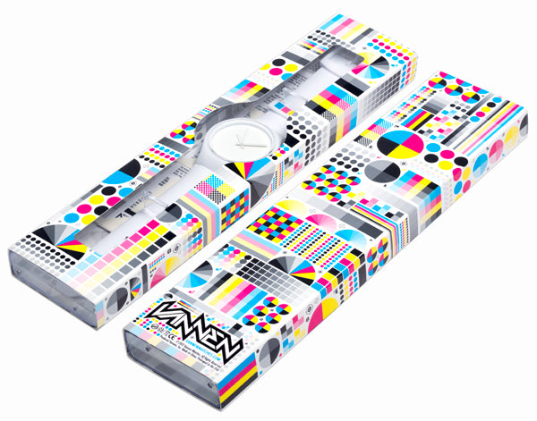 Limited Edition Vannen CMYK Series White Watch