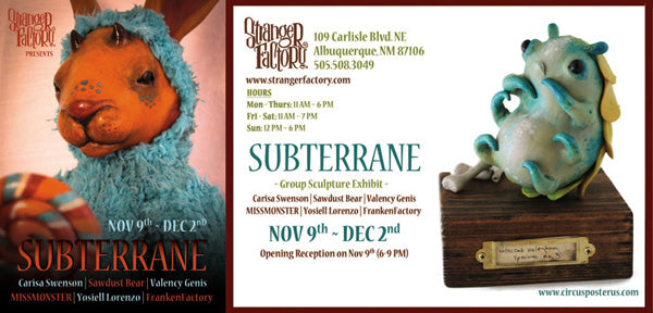 Subterrane Exhibit @ Stranger Factory (11.9)