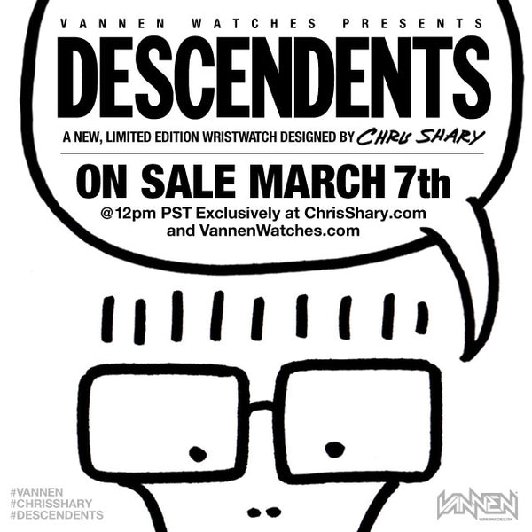 DESCENDENTS x Chris Shary x Vannen Artist Watch