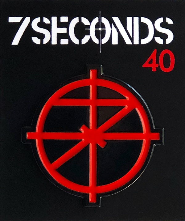 7Seconds soft enamel pin