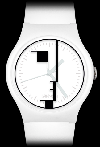 Limited edition Bauhaus (white) Vannen watch